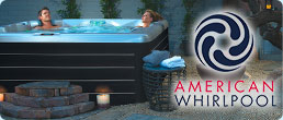 Couple relaxing in American Whirlpool Hot Tub