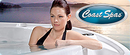 Woman relaxing in a Coast Spas hot tub