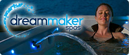 Woman relaxing in hot tub from Dreammaker Spas