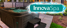 InnovaSpa Fantom urban spa in backyard