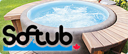 Softub in Backyard